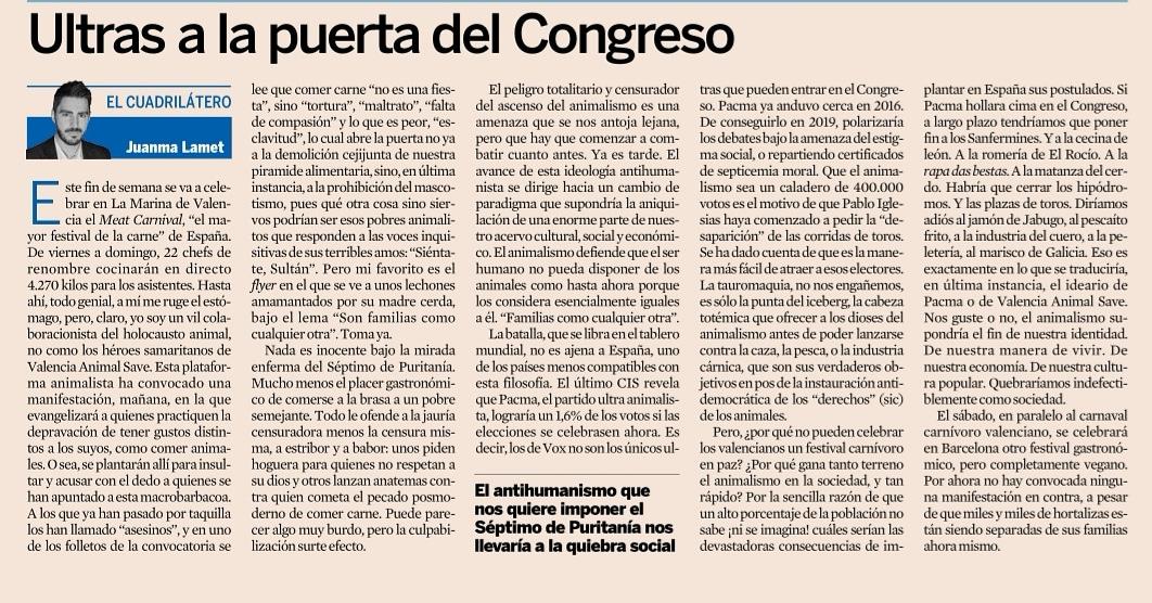 Ultras a la puerta del Congreso, por Juanma Lamet