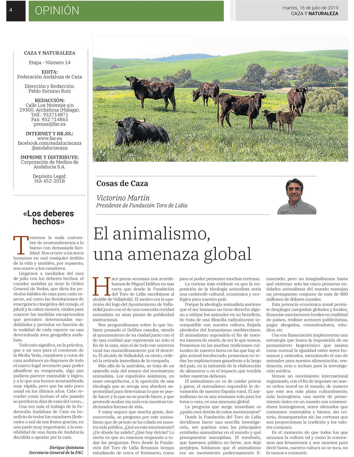 El animalismo, una amenaza global