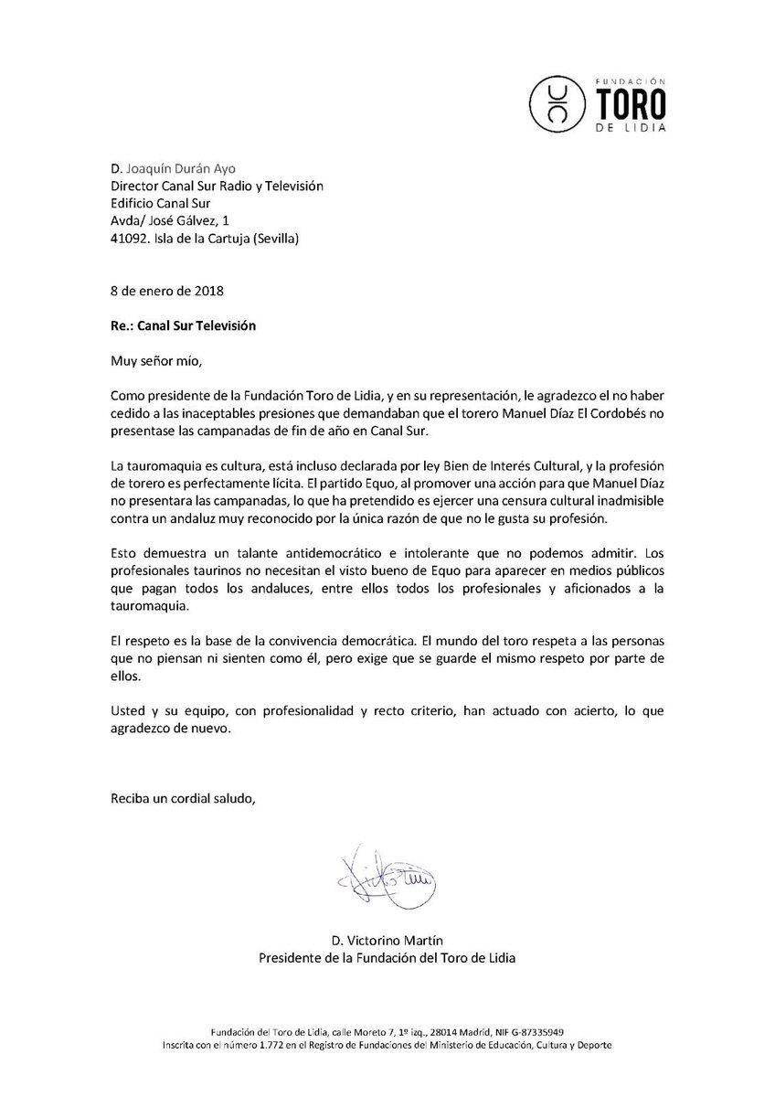 Carta a Joaquín Durán Ayo, director de Canal Sur Radio y Televisión