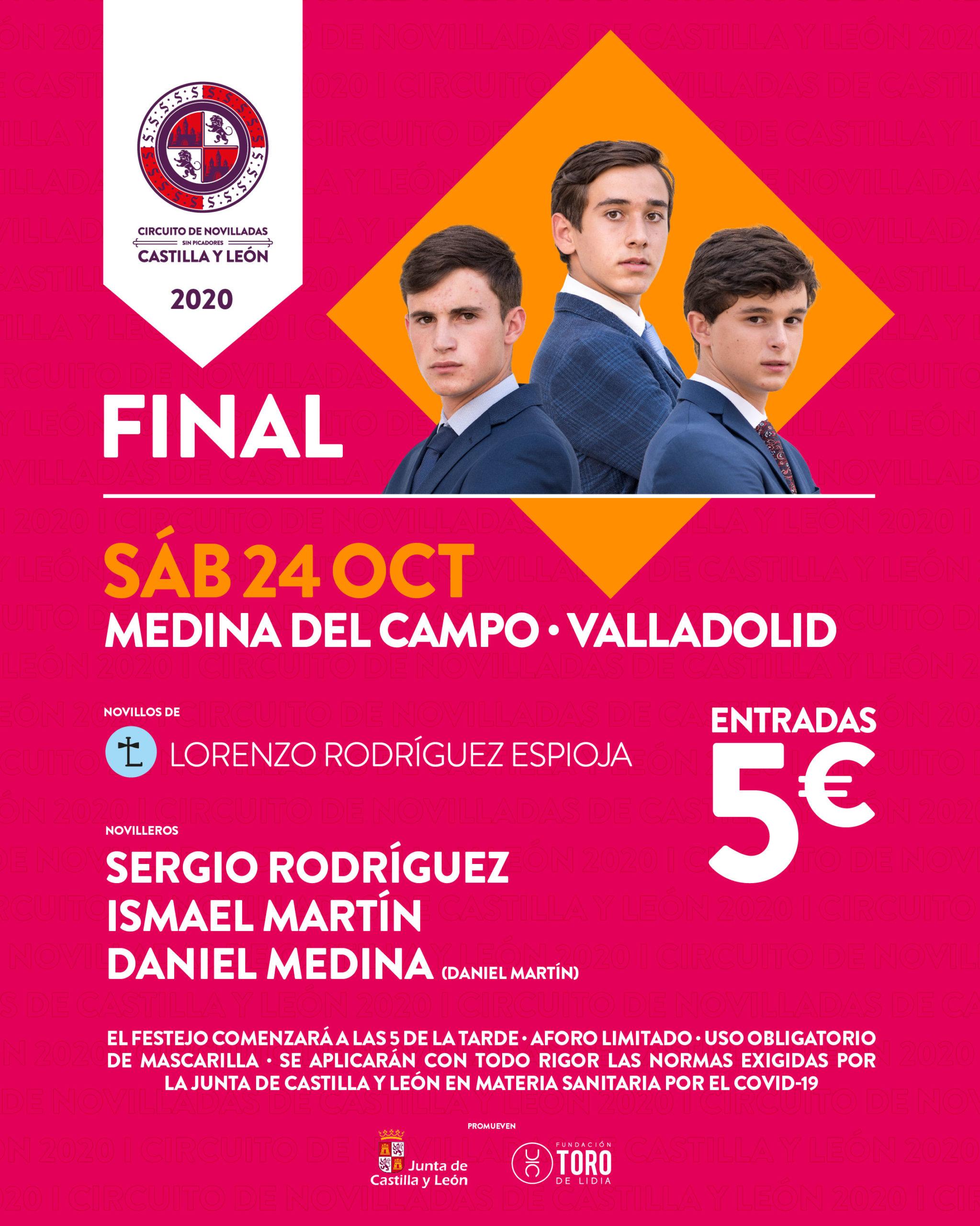 Sergio Rodríguez, Ismael Martín y Daniel Martín Medina, finalistas del Circuito de Novilladas sin picadores de Castilla y León