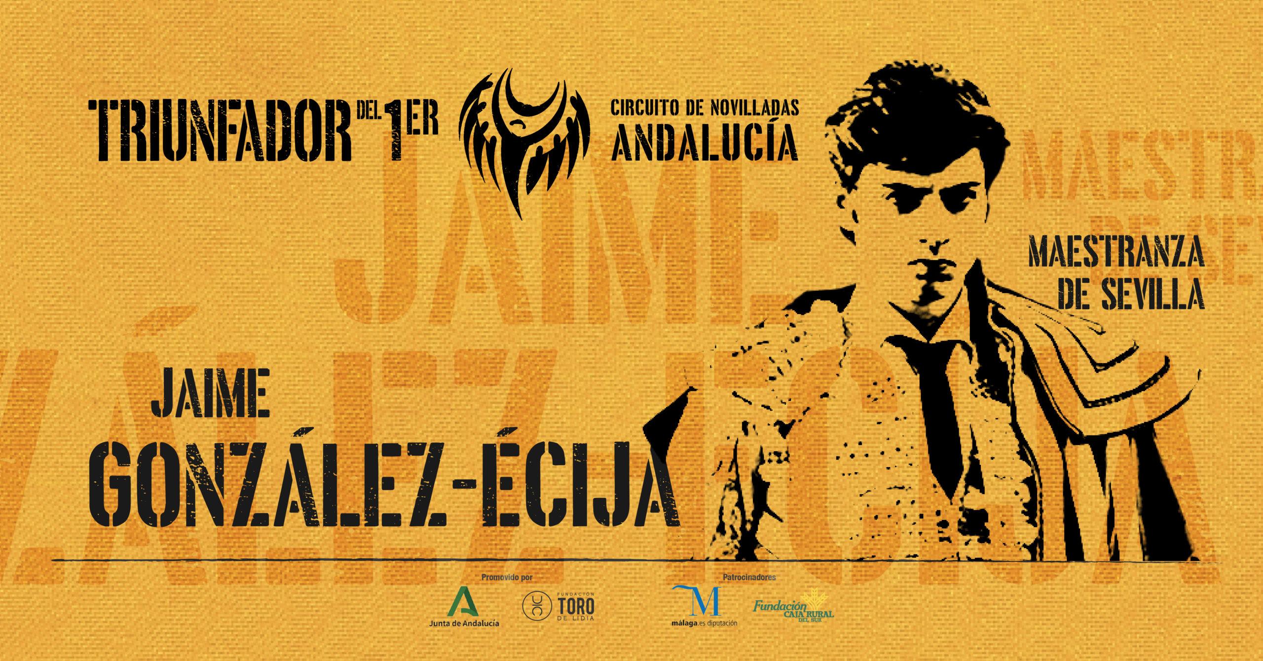 Jaime González-Écija, novillero triunfador de Andalucía 2020