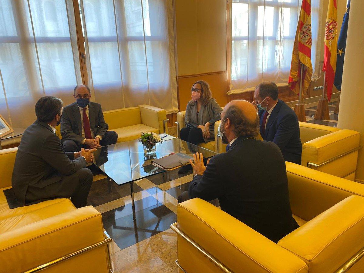 La FTL se reúne con Javier Lambán, presidente de Aragón