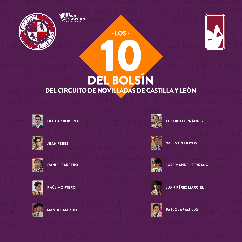 Diez novilleros competirán en un bolsín taurino para entrar en el Circuito de Castilla y León